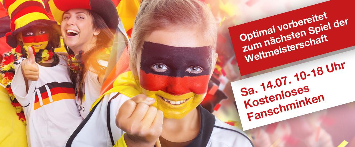 Optimal vorbereitet auf die WeltmeisterschaftFanschminken am Samstag, 14. Juni